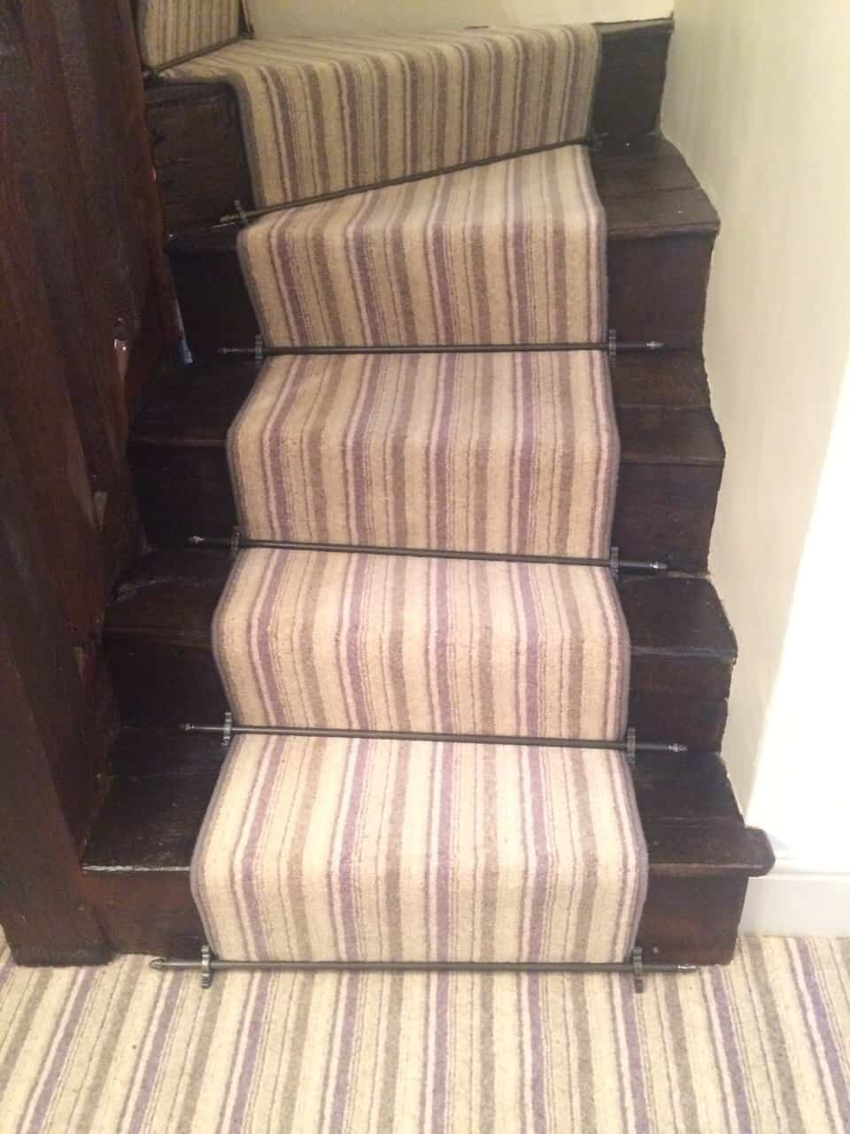 Stair Runner With Stair Rods Just In2 Carpets Amp Rugs